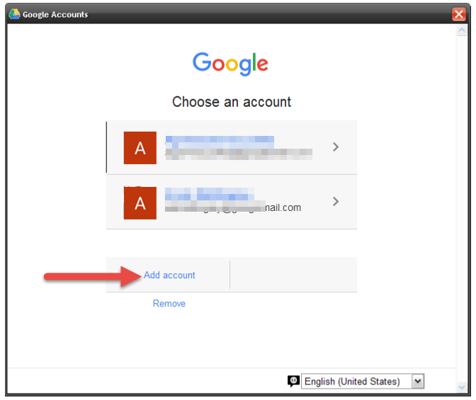 existing google account
